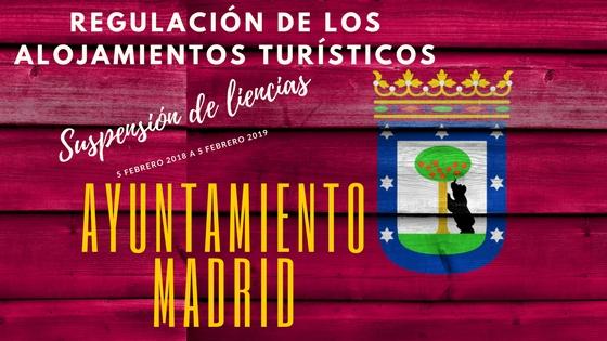 La suspensión de licencias por el Ayuntamiento de Madrid (2018)
