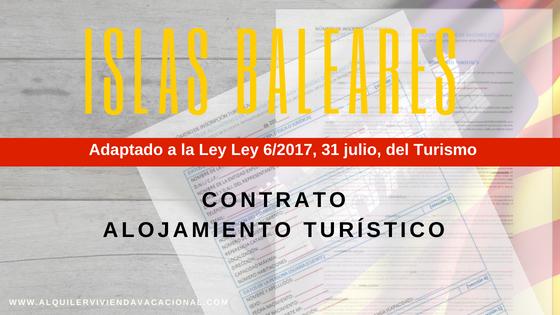 Islas Baleares: Modelo de contrato de arrendamiento turístico vacacional