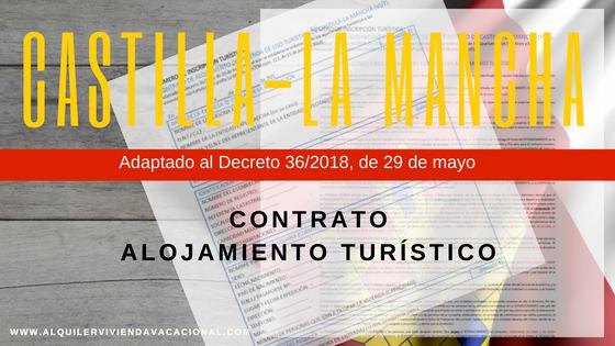Castilla-La Mancha: Modelo de contrato de alojamiento turístico