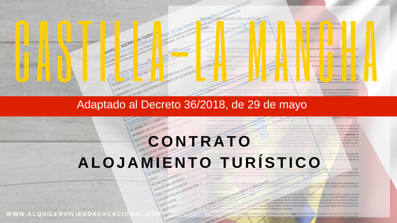 Modelo contrato alojamiento turístico Castilla-La Mancha