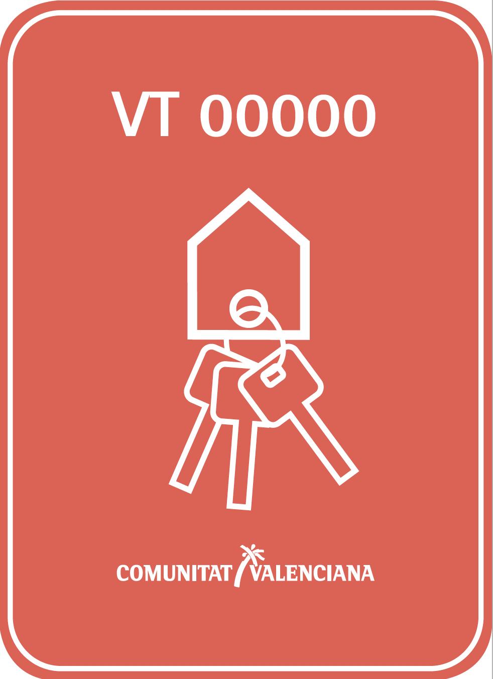 Placa vivienda turística C. Valenciana