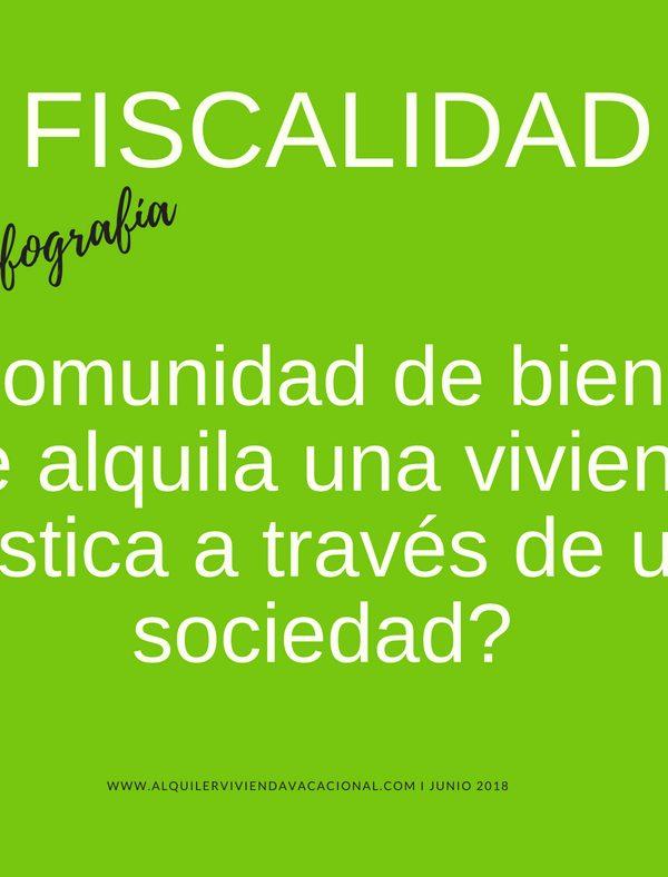 CONSULTA FISCAL: Comunidad de bienes que alquila una vivienda turística a través de sociedad