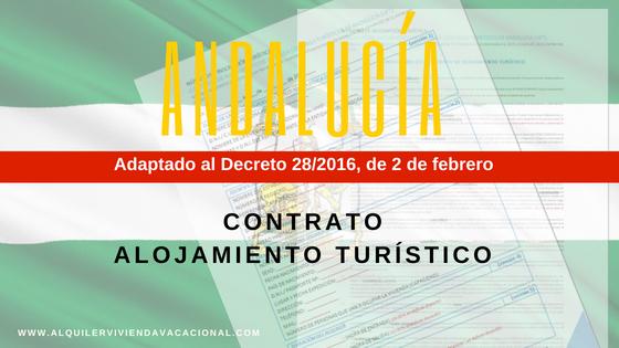 Andalucía: Modelo de contrato de alojamiento turístico vacacional