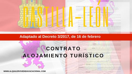 Castilla y León: Modelo de contrato de alojamiento turístico vacacional
