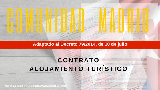 Contrato de alquiler turístico Comunidad Madrid