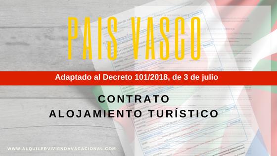 Euskadi: contrato alquiler turístico