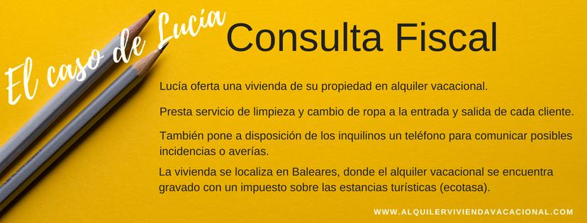 Consulta fiscal sobre el impuesto de estancias turísticas de Baleares