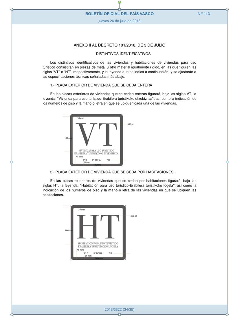 Distintivo VT - HT exterior