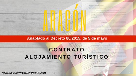 Aragón: Modelo de contrato de arrendamiento turístico vacacional