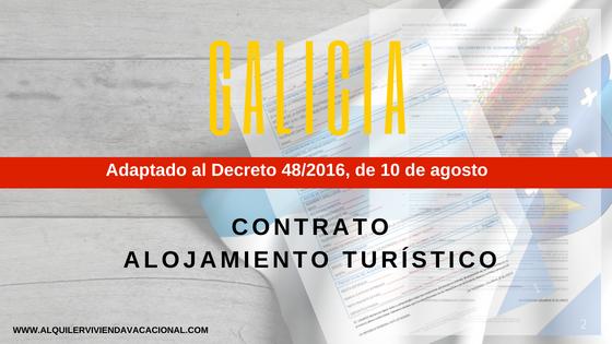 Galicia: Modelo de contrato de arrendamiento turístico vacacional