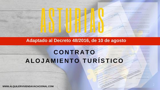 Asturias: Modelo de contrato de arrendamiento turístico vacacional