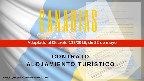 Canarias: Modelo de contrato de arrendamiento turístico vacacional