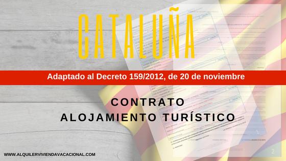 Cataluña: Modelo de contrato de arrendamiento turístico vacacional