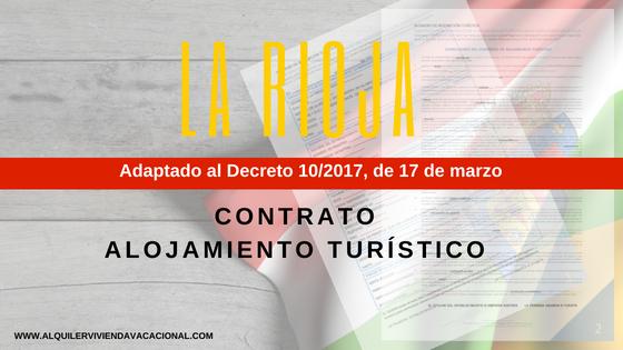 La Rioja: Modelo de contrato de arrendamiento turístico vacacional