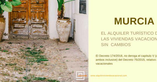 MURCIA: El alquiler turístico de las viviendas vacacionales sin cambios