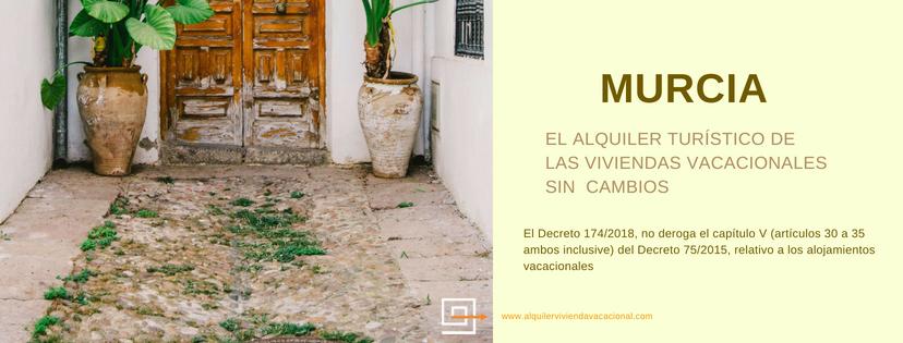 Murcia: Pasos para alquilar una vivienda vacacional (Vv)