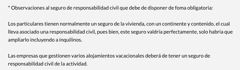 Murcia: Observaciones al seguro de responsabilidad civil obligatorio en alojamientos vacacionales