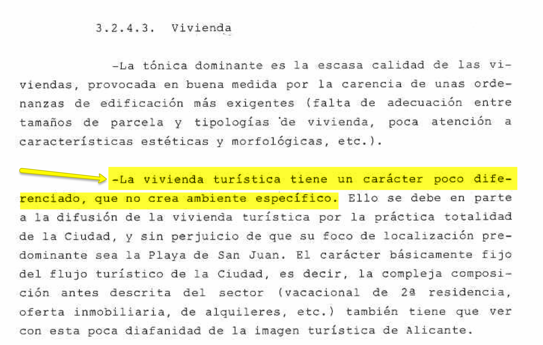 La vivienda turística según el Plan General Ordenación Urbanística de la ciudad de Alicante