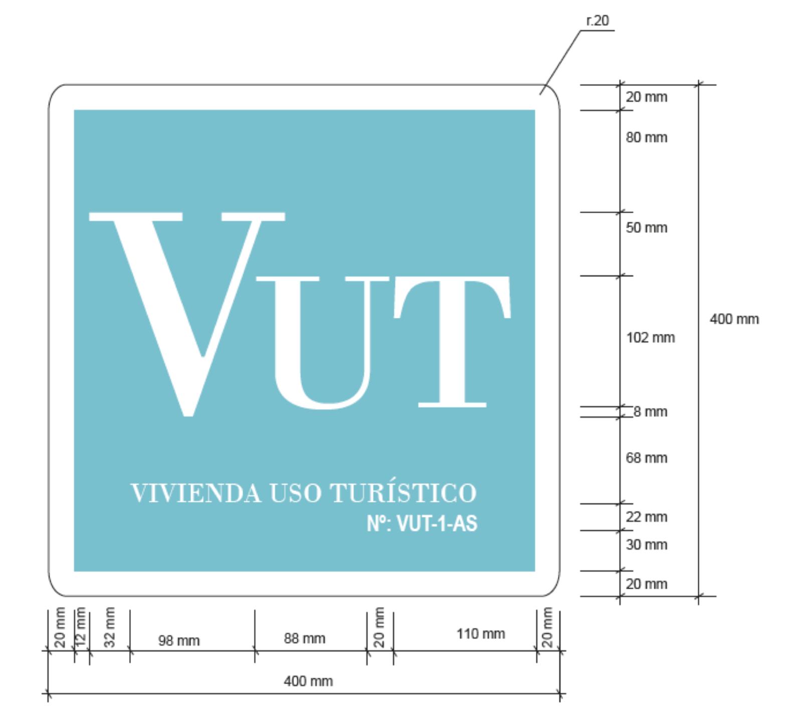 Placa identificativa · VUT · Asturias