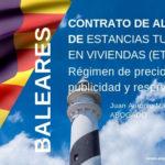 Baleares: contrato de alquiler de estancias turísticas en viviendas (ETV)