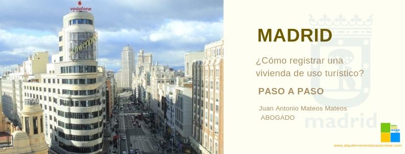 Pasos para registrar tu VUT en la Comunidad de Madrid
